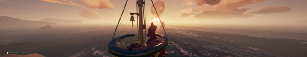 The crows nest in sea of thieves