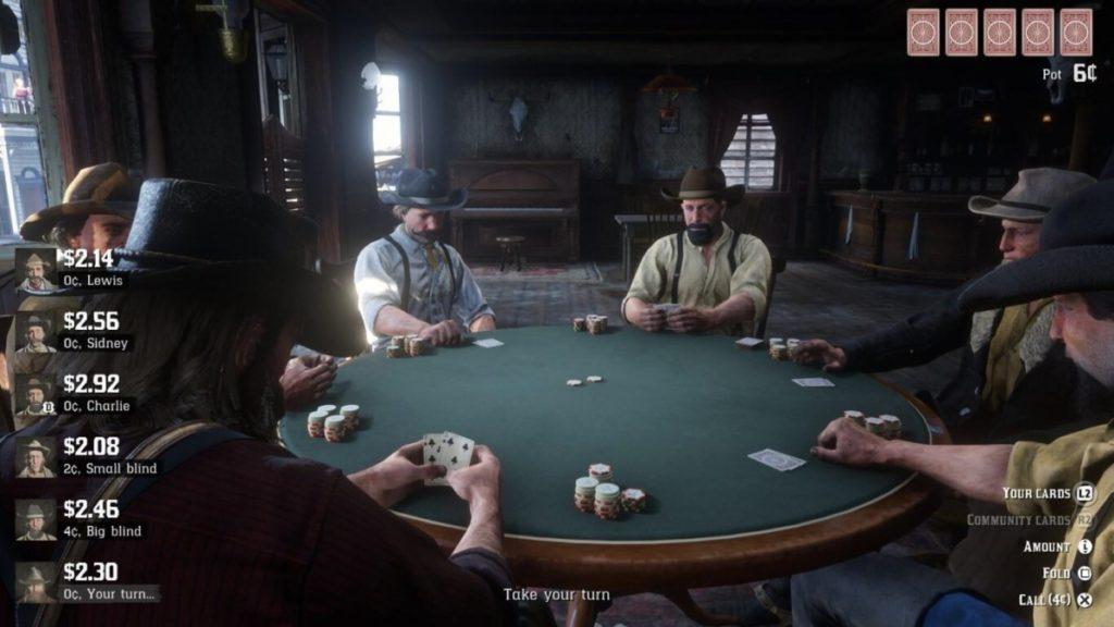 RDR 2 online Poker Table