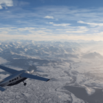 Snow is falling in Microsoft Flight Simulator 2020!